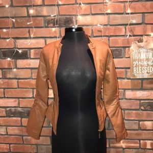 🍁🖤Charlotte Russe Faux Leather Jacket Cute Style